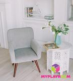Детское мягкое кресло в стиле 60-х, дымчатый 5