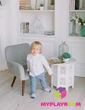 Детское мягкое кресло в стиле 60-х, дымчатый 2