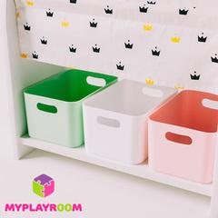 Набор из 3-х контейнеров для Монтессори-полочки, цвета МИКС
