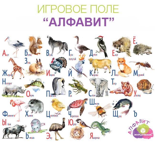 Игровое поле АЛФАВИТ