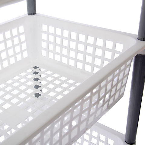 Этажерка-органайзер для игрушек на колесах, 4-х секционная 3