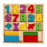 Набор счётных палочек, резных цифр и знаков, 70 элементов 1