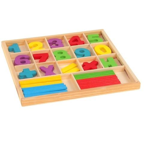Набор счётных палочек, резных цифр и знаков, 70 элементов 2