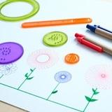 Детский спирограф для рисования, набор из 7 предметов 3