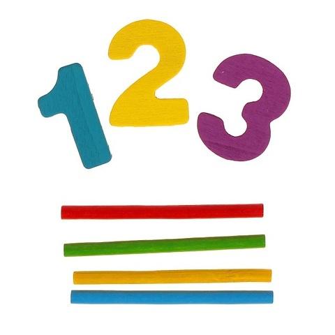 Набор счётных палочек, резных цифр и знаков, 70 элементов 3