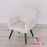 Детское мягкое кресло в стиле 60-х, песочный 1