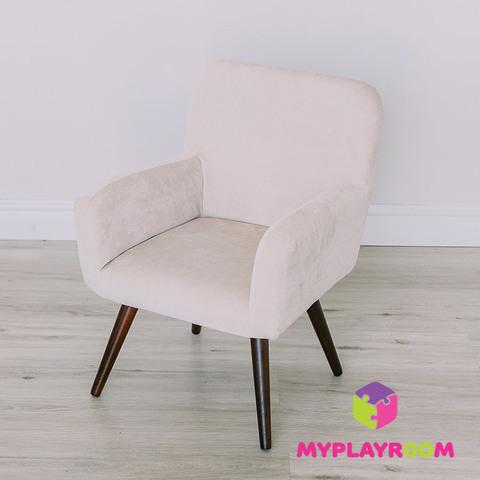 Детское мягкое кресло в стиле 60-х, песочный