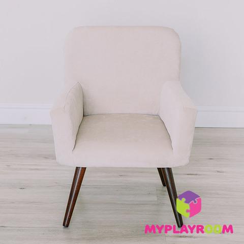 Детское мягкое кресло в стиле 60-х, песочный 3