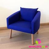 Детское мягкое кресло, синее 1