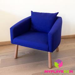 Детское мягкое кресло, синее