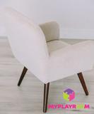 Детское мягкое кресло в стиле 60-х, песочный 4