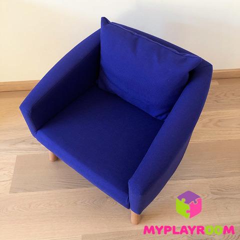 Детское мягкое кресло, синее 5