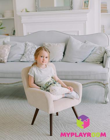 Детское мягкое кресло в стиле 60-х, песочный 2