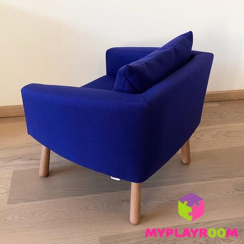 Детское мягкое кресло, синее 3
