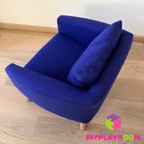Детское мягкое кресло, синее 6