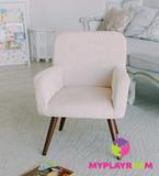 Детское мягкое кресло в стиле 60-х, песочный 6