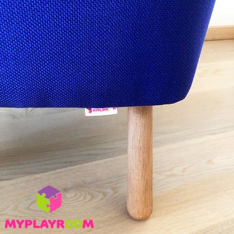 Детское мягкое кресло, синее 7