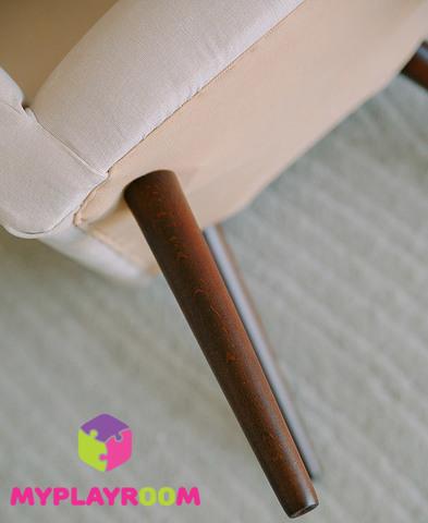 Детское мягкое кресло в стиле 60-х, песочный 7