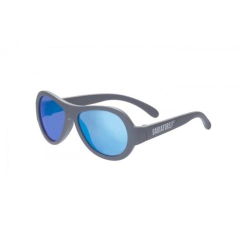 """Детские солнцезащитные очки Babiators Aviator (Premium)  """"Синяя сталь"""", (0-5 лет). Зеркальные линзы"""