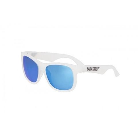 """Детские солнцезащитные очки Babiators Navigator (Premium) """"Синий лёд"""", (0-5 лет). Полупрозрачная оправа"""