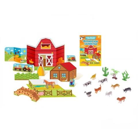 """Игровой набор """"Фермерское хозяйство"""", 10 животных"""