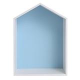Полочка-домик для книг и игрушек, голубая 1