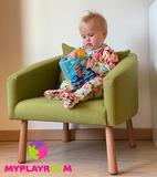Детское мягкое кресло, оливковое 2