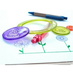 Детский спирограф для рисования, набор из 7 предметов