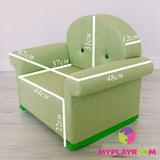 Детское мягкое кресло-качалка (мини-диванчик), зелёное 8
