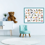 Плакат детский развивающий «Алфавит» ламинированный, А2 1