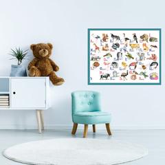 Плакат детский развивающий «Алфавит» ламинированный, А2