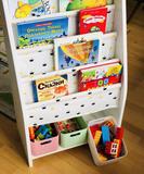 Монтессори-полочка для книг с отсеком для хранения 4