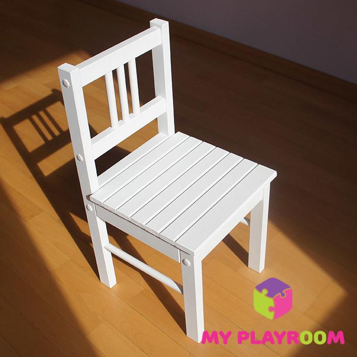 Детский деревянный стульчик, белый