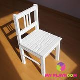 Детский деревянный стульчик, белый 1
