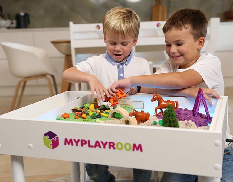 Световая песочница для LEGO от MYPLAYROOM™ с длинной столешницей 7в1