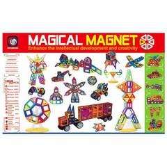 Большой магнитный конструктор 198 деталей
