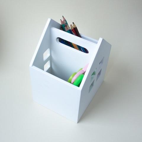 Карандашница «Домик», белая 4
