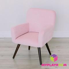 Детское мягкое кресло в стиле 60-х, розовое облачко