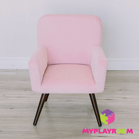 Детское мягкое кресло в стиле 60-х, розовое облачко 3