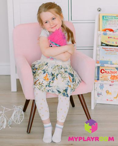 Детское мягкое кресло в стиле 60-х, розовое облачко 2