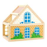 Расписной кукольный домик, 2 этажа 2