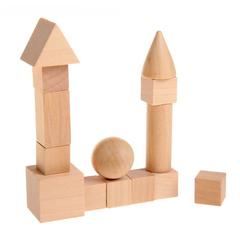Геометрические фигуры из дерева, 14 предметов