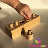 Блоки с цилиндрами для малышей (материал Монтессори) 3