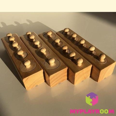 Блоки с цилиндрами для малышей (материал Монтессори) 5