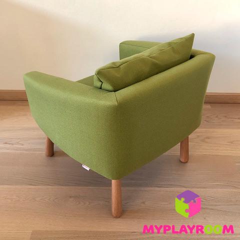 Детское мягкое кресло, оливковое 3