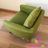 Детское мягкое кресло, оливковое 4