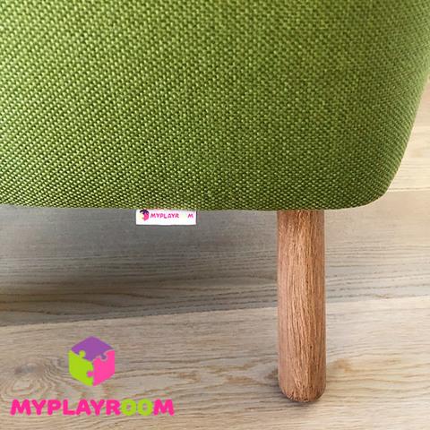 Детское мягкое кресло, оливковое 5