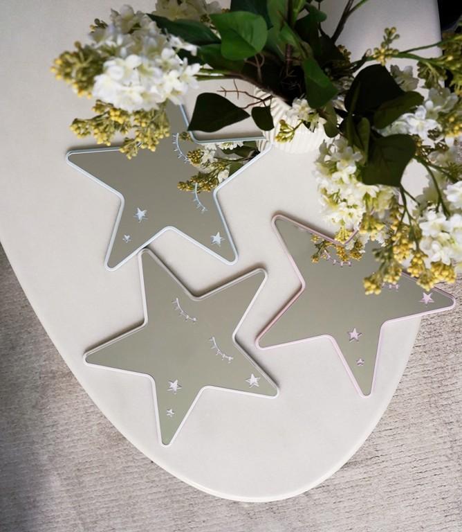 Безопасное зеркало для детской комнаты звезда