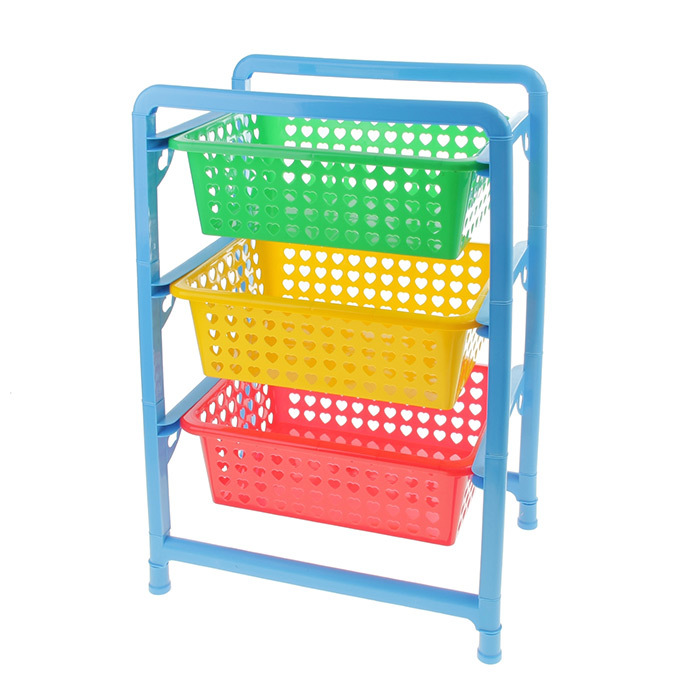 Органайзер для игрушек с 3 выдвижными корзинами