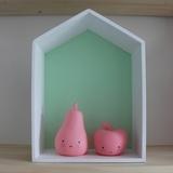 Полочка-домик для книг и игрушек, зеленая 2